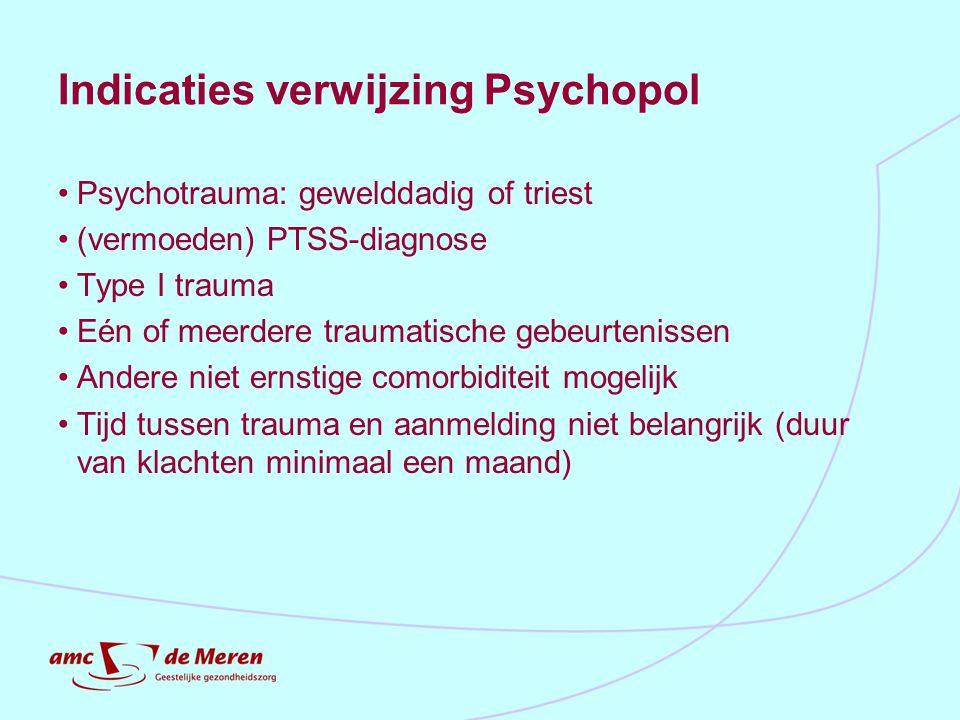 Indicaties verwijzing Psychopol