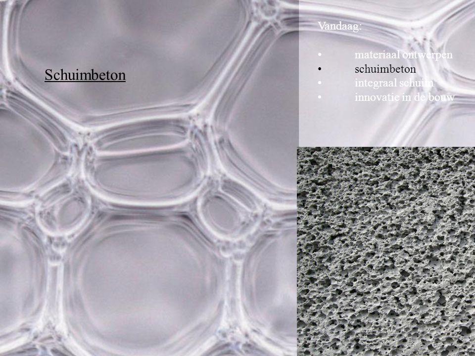 Schuimbeton Vandaag: materiaal ontwerpen schuimbeton integraal schuim