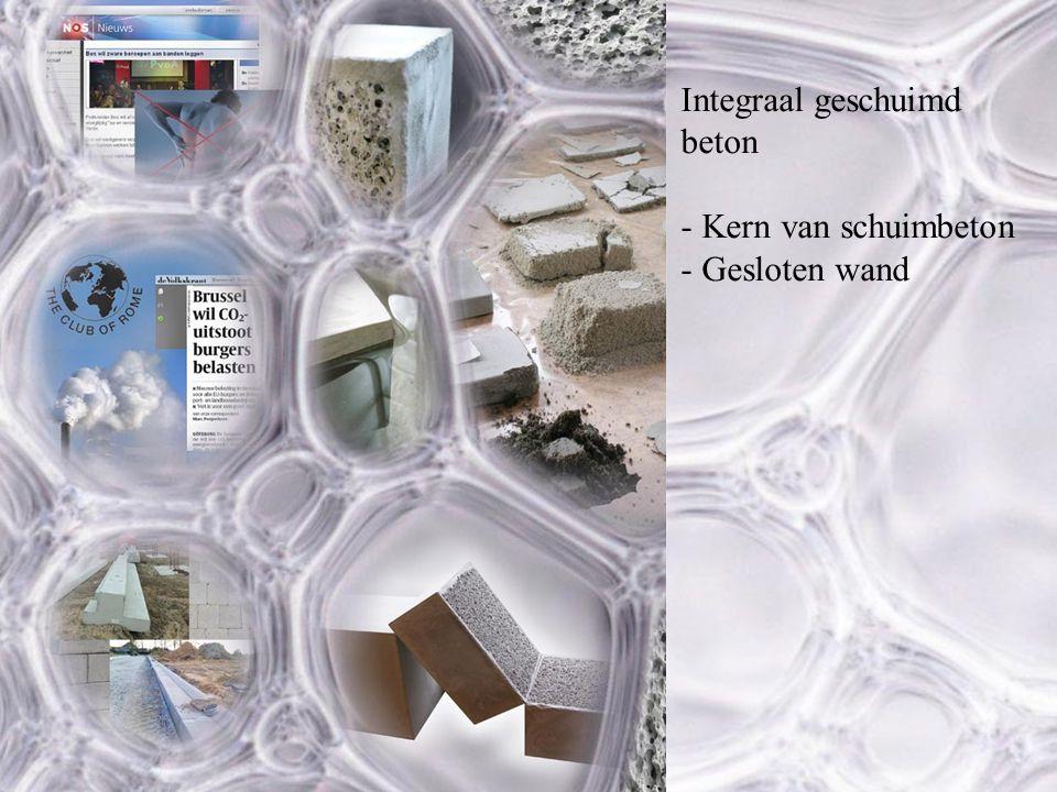 Integraal geschuimd beton - Kern van schuimbeton