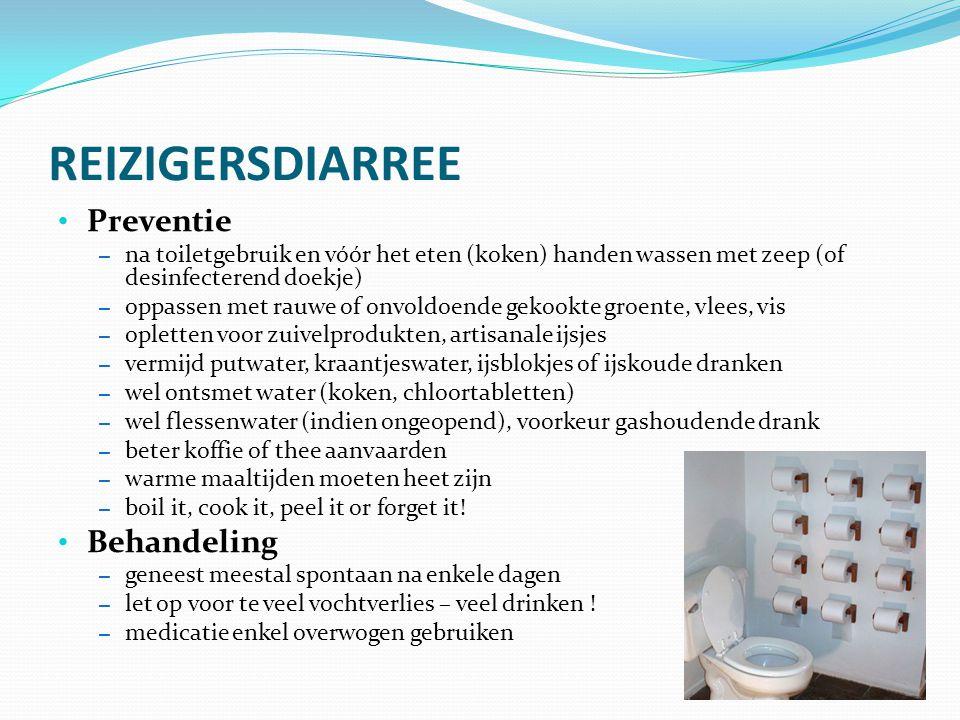 REIZIGERSDIARREE Preventie Behandeling