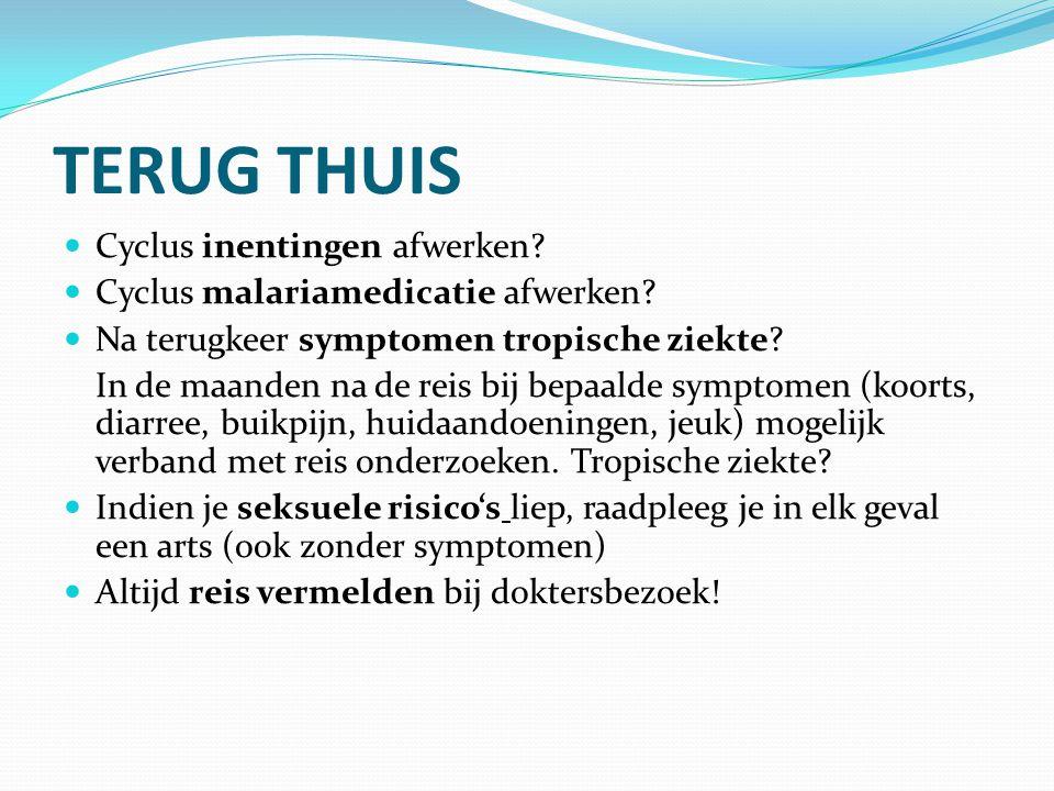TERUG THUIS Cyclus inentingen afwerken