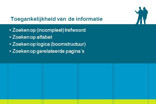 Toegankelijkheid van de informatie