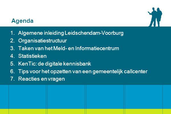 Agenda Algemene inleiding Leidschendam-Voorburg Organisatiestructuur