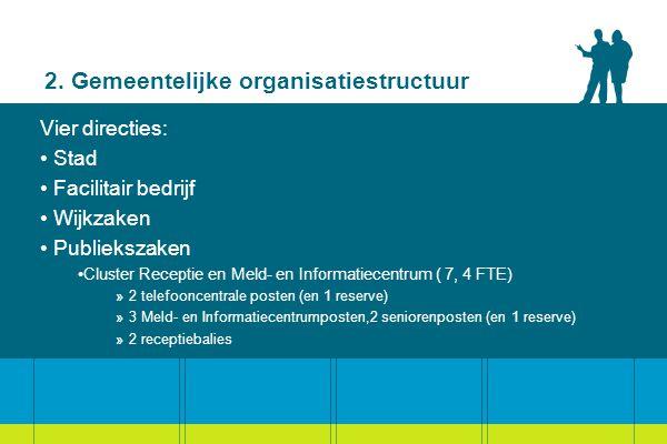 2. Gemeentelijke organisatiestructuur