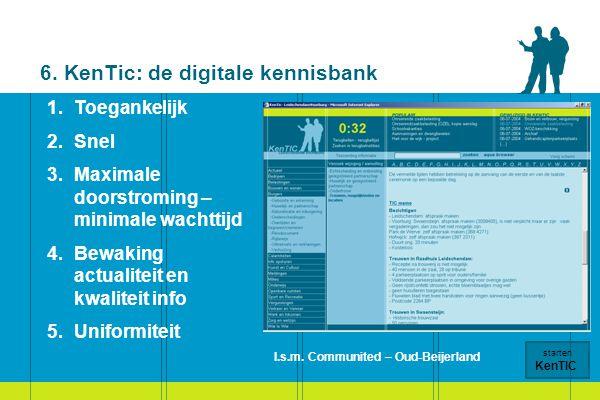 6. KenTic: de digitale kennisbank