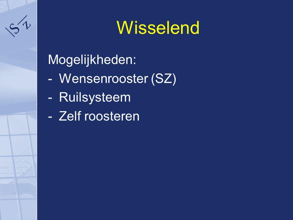 Wisselend Mogelijkheden: Wensenrooster (SZ) Ruilsysteem Zelf roosteren