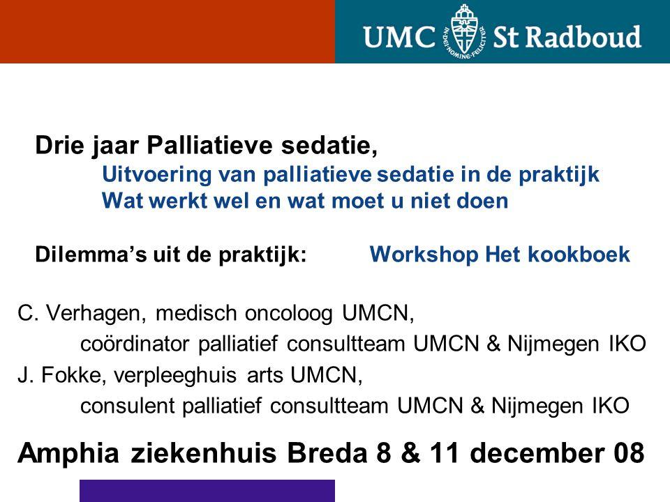 Amphia ziekenhuis Breda 8 & 11 december 08