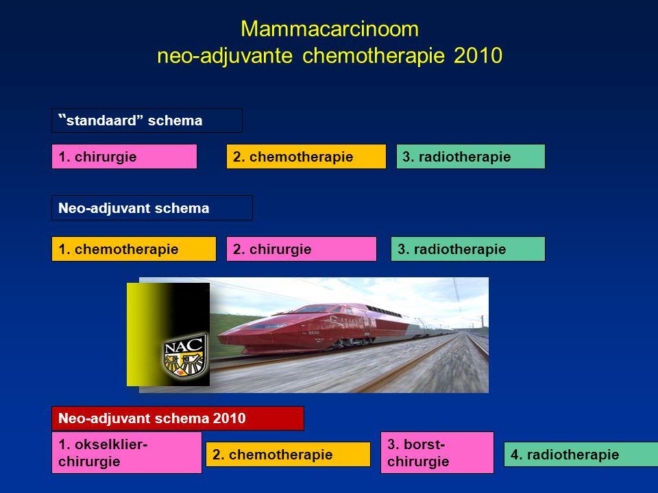 Mammacarcinoom neo-adjuvante chemotherapie 2010