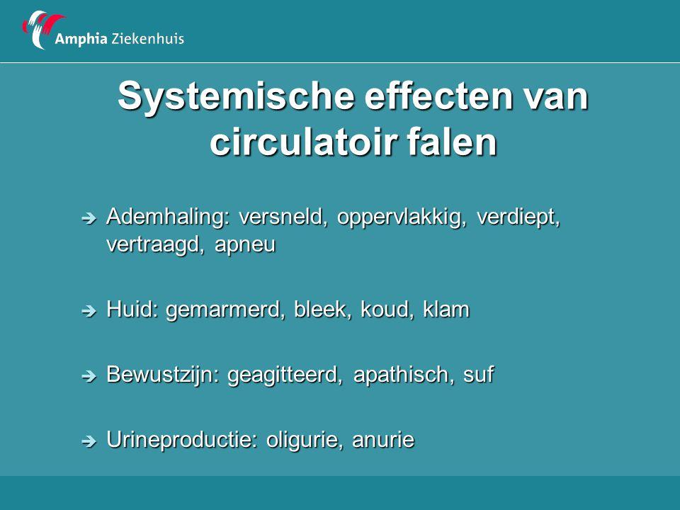 Systemische effecten van circulatoir falen
