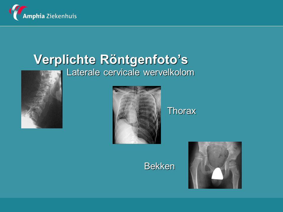 Verplichte Röntgenfoto's