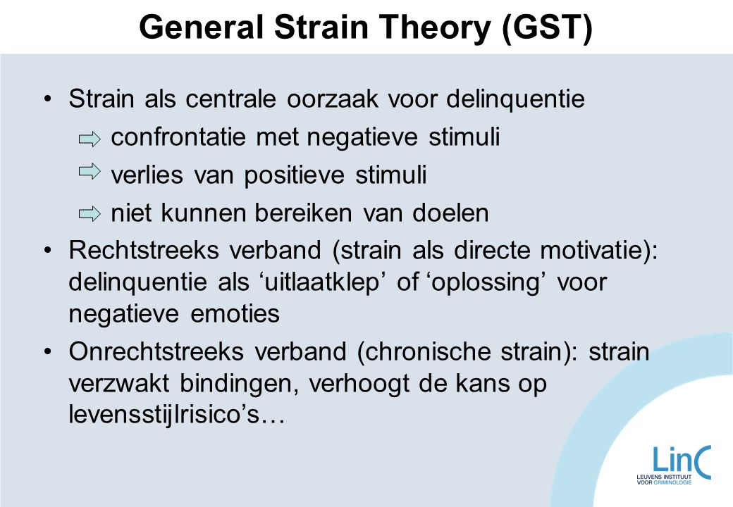 General Strain Theory (GST)