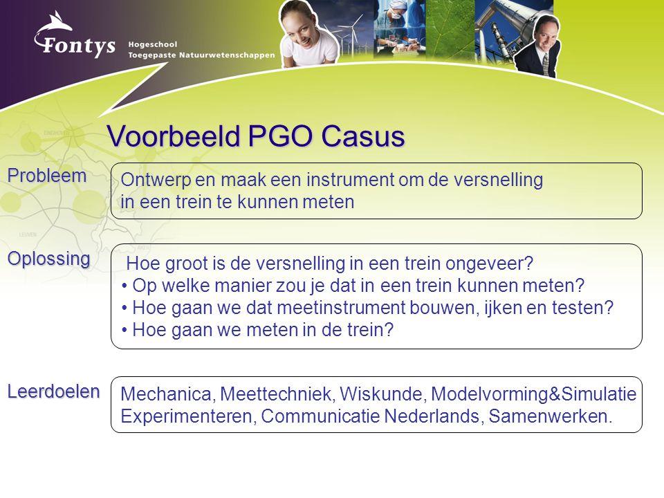 Voorbeeld PGO Casus Probleem