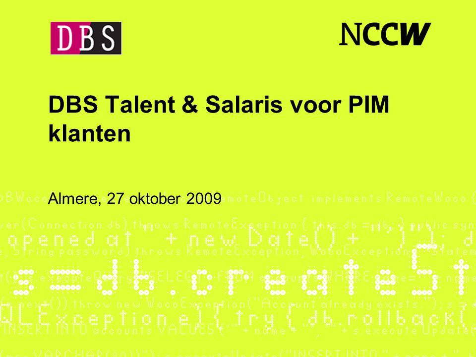 DBS Talent & Salaris voor PIM klanten