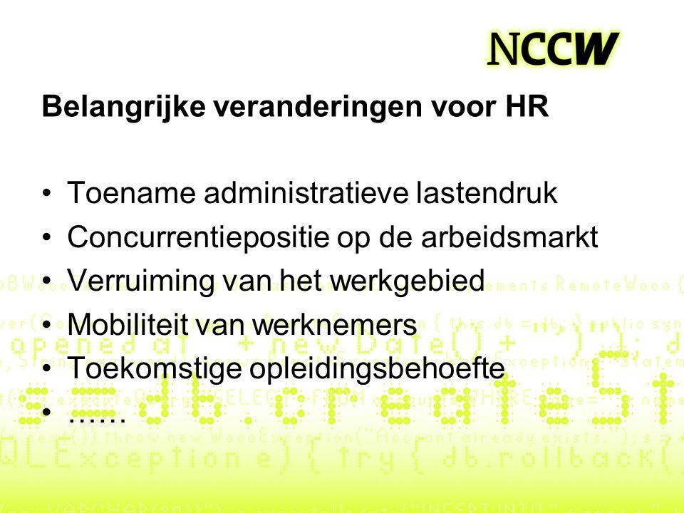 Belangrijke veranderingen voor HR