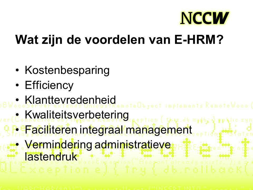 Wat zijn de voordelen van E-HRM