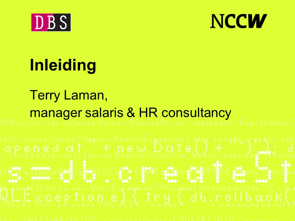 Terry Laman, manager salaris & HR consultancy