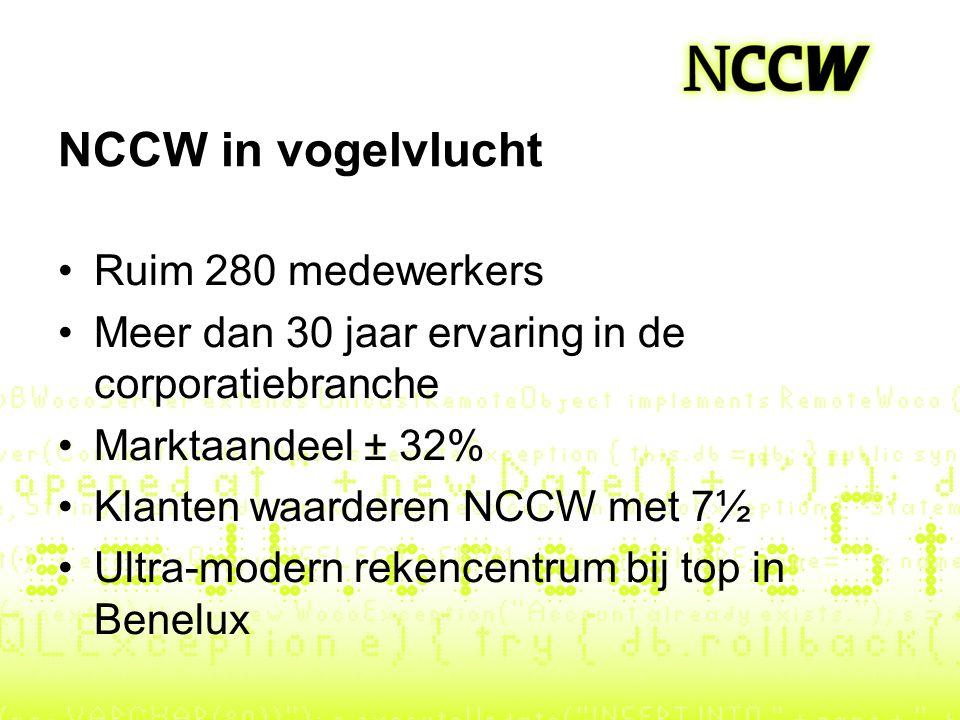 NCCW in vogelvlucht Ruim 280 medewerkers