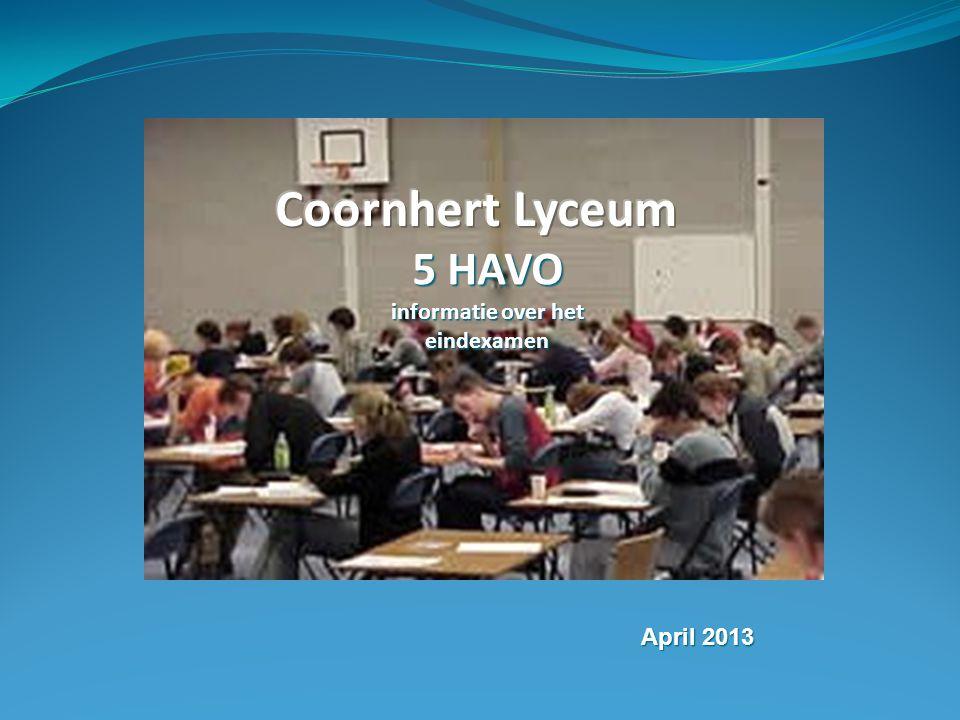 5 HAVO informatie over het eindexamen