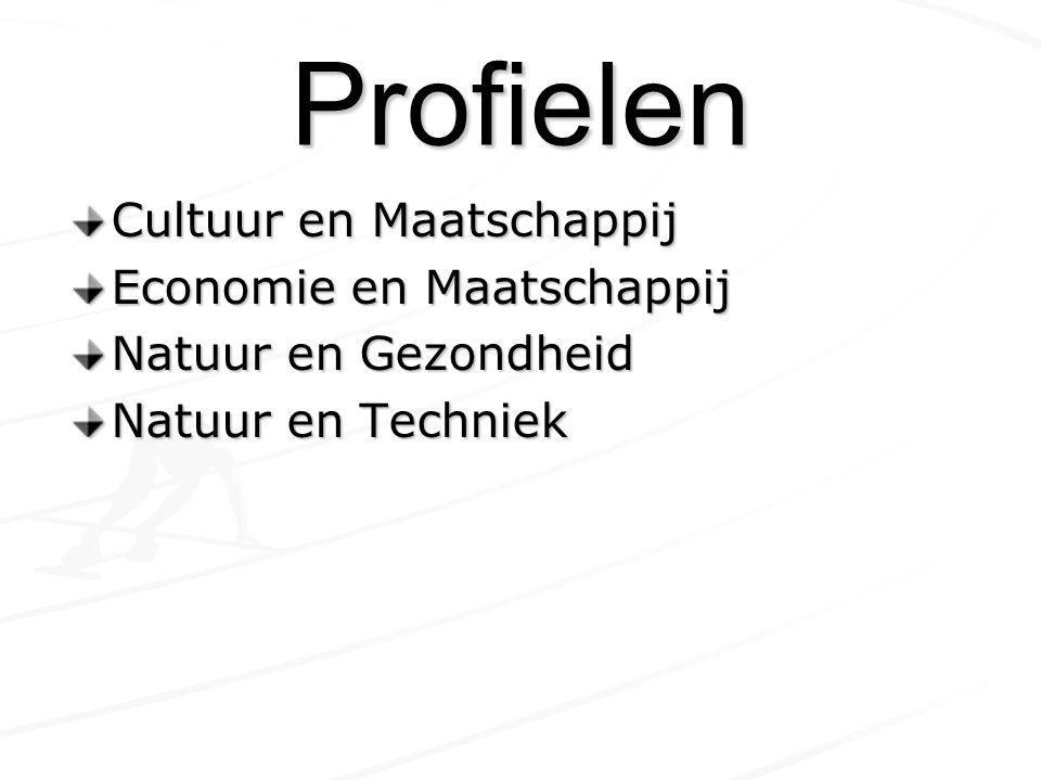 Profielen Cultuur en Maatschappij Economie en Maatschappij