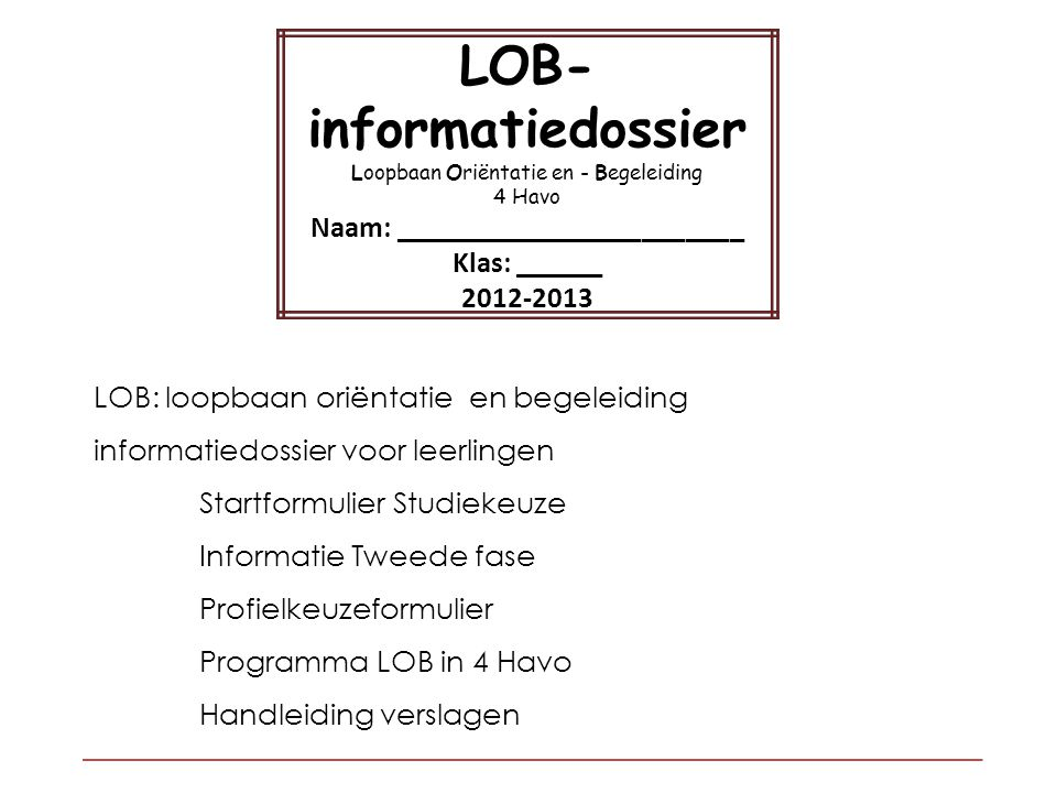 LOB-informatiedossier