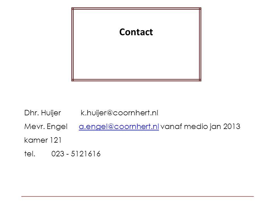 Contact Dhr. Huijer k.huijer@coornhert.nl Mevr.