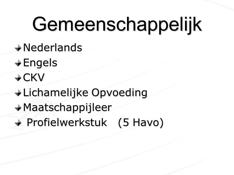 Gemeenschappelijk Nederlands Engels CKV Lichamelijke Opvoeding