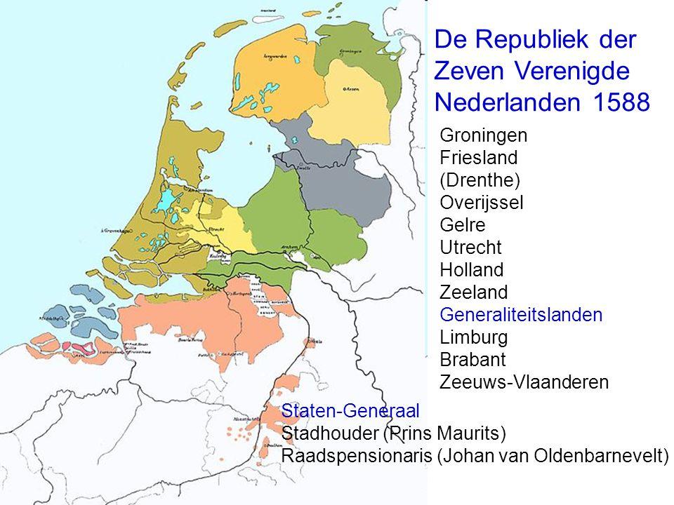 De Republiek der Zeven Verenigde Nederlanden 1588 Groningen Friesland