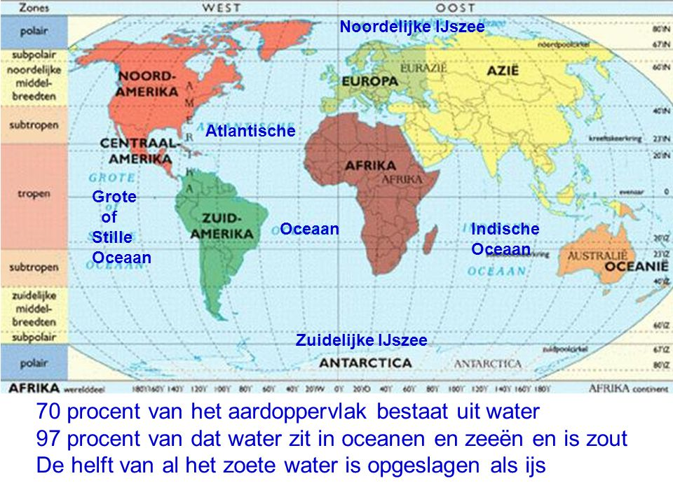 70 procent van het aardoppervlak bestaat uit water