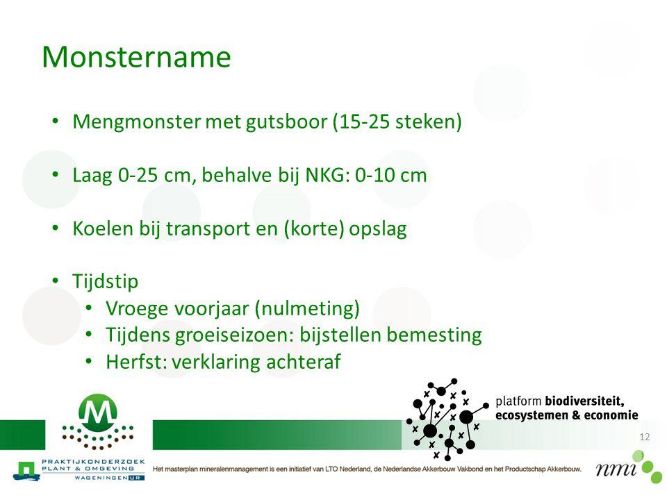 Monstername Mengmonster met gutsboor (15-25 steken)