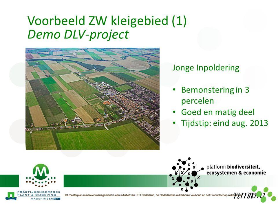 Voorbeeld ZW kleigebied (1) Demo DLV-project