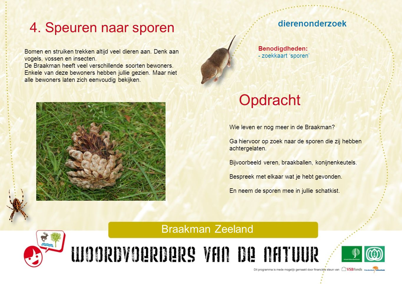 Opdracht 4. Speuren naar sporen dierenonderzoek Braakman Zeeland