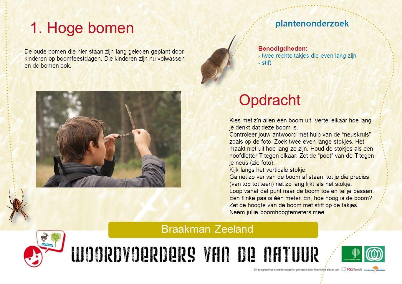 1. Hoge bomen Opdracht plantenonderzoek Braakman Zeeland