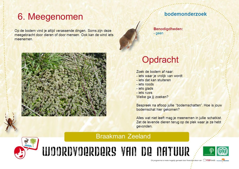 6. Meegenomen Opdracht bodemonderzoek Braakman Zeeland Benodigdheden: