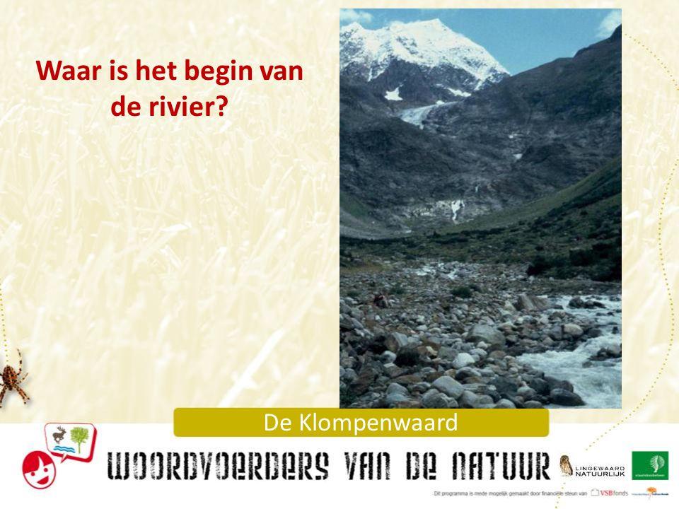 Waar is het begin van de rivier