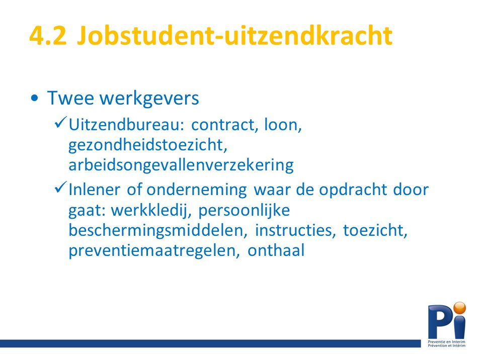 4.2 Jobstudent-uitzendkracht