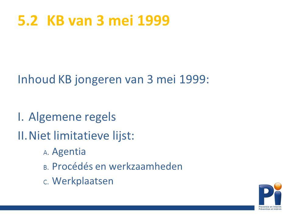 5.2 KB van 3 mei 1999 Inhoud KB jongeren van 3 mei 1999: