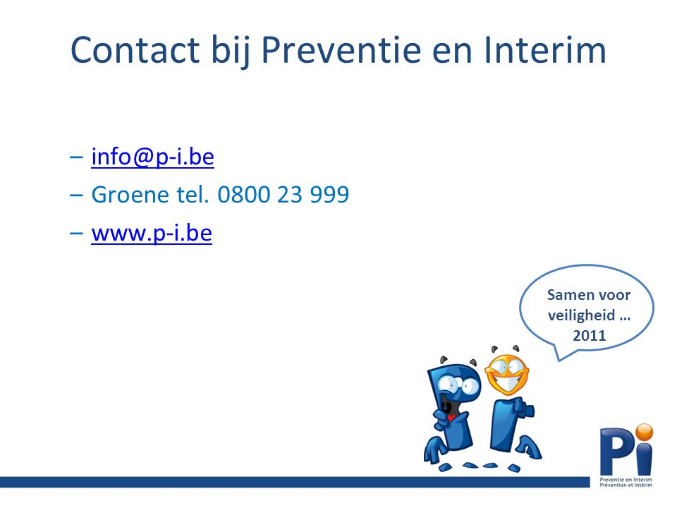 Contact bij Preventie en Interim