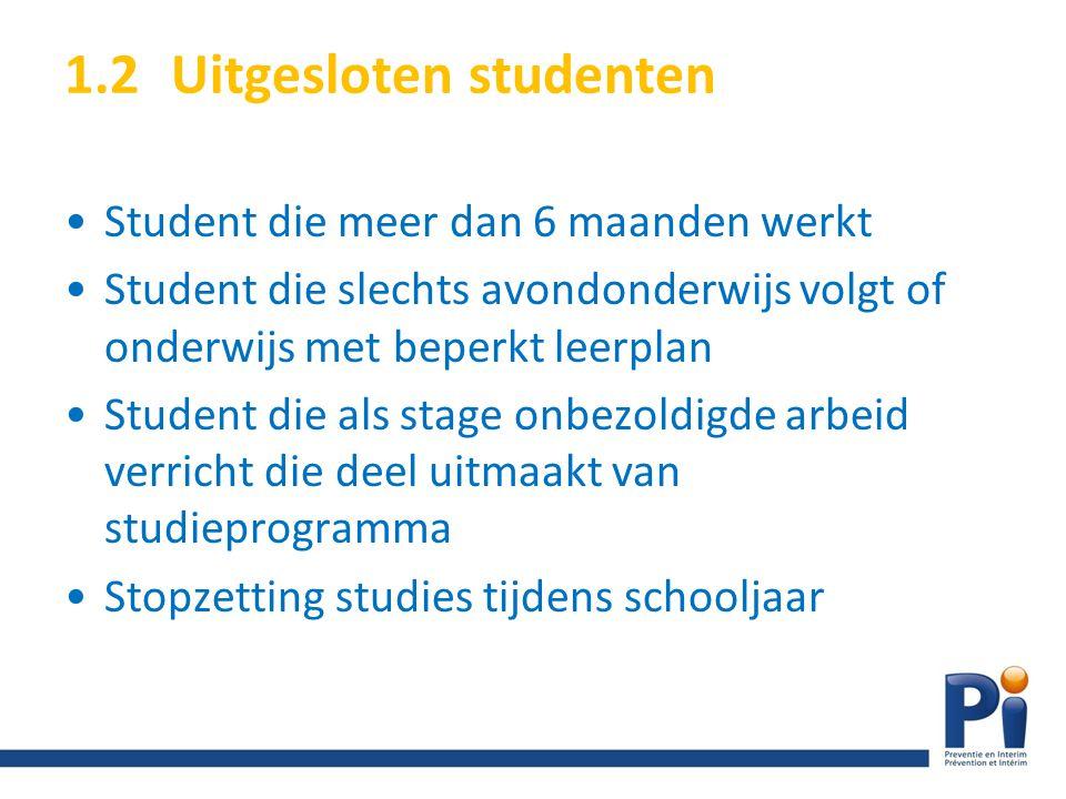 1.2 Uitgesloten studenten