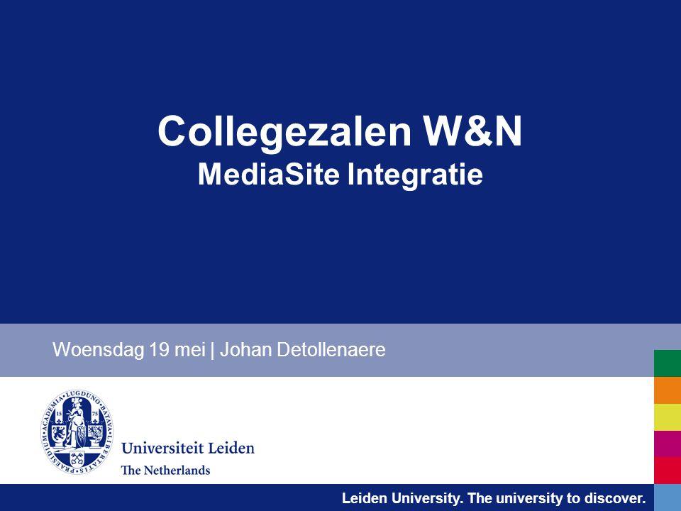 Collegezalen W&N MediaSite Integratie