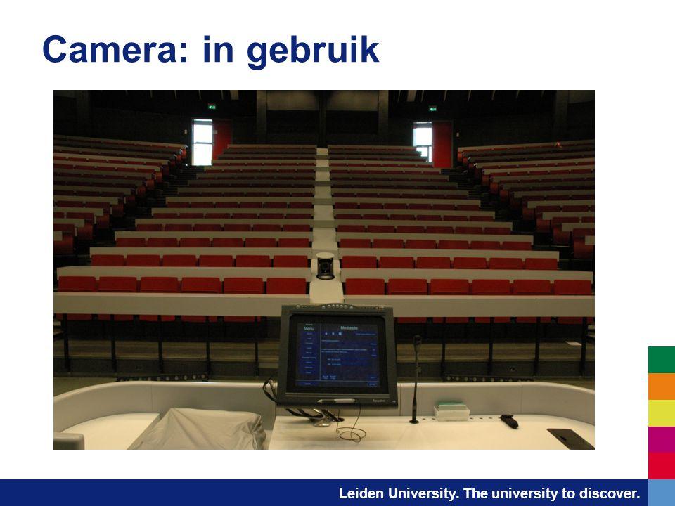 Camera: in gebruik