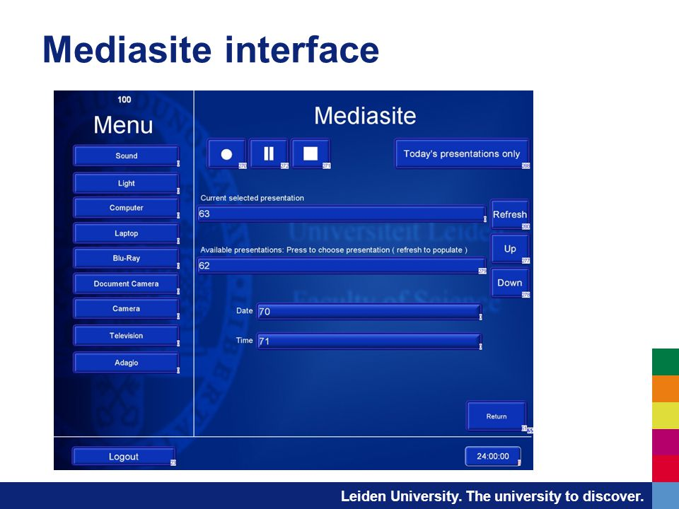 Mediasite interface