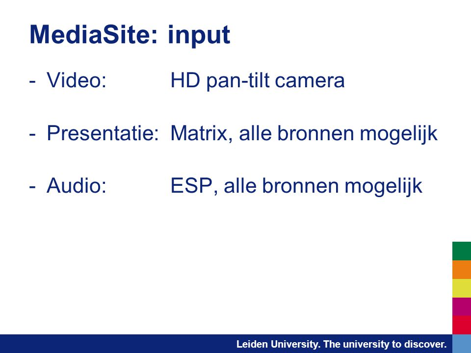 MediaSite: input Video: HD pan-tilt camera