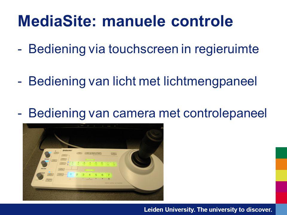 MediaSite: manuele controle