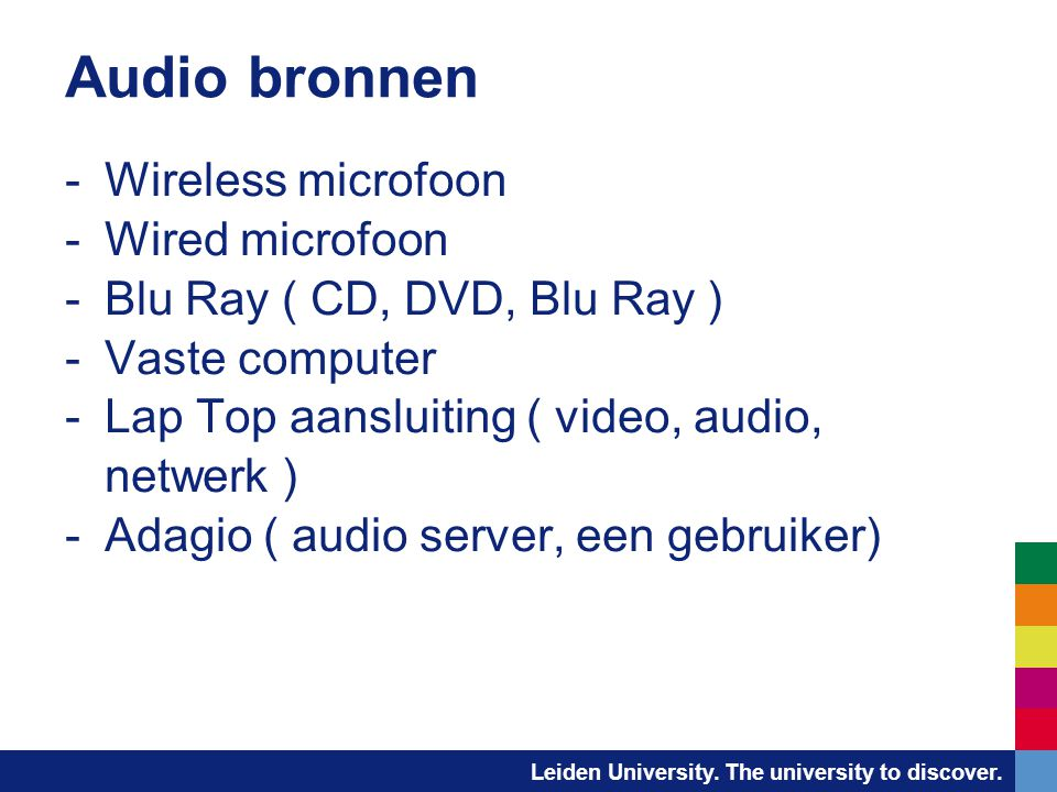 Audio bronnen Wireless microfoon Wired microfoon