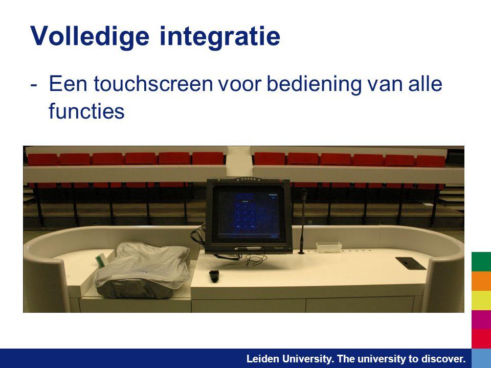 Volledige integratie Een touchscreen voor bediening van alle functies