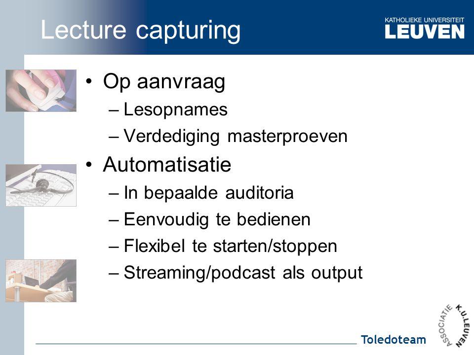 Lecture capturing Op aanvraag Automatisatie Lesopnames