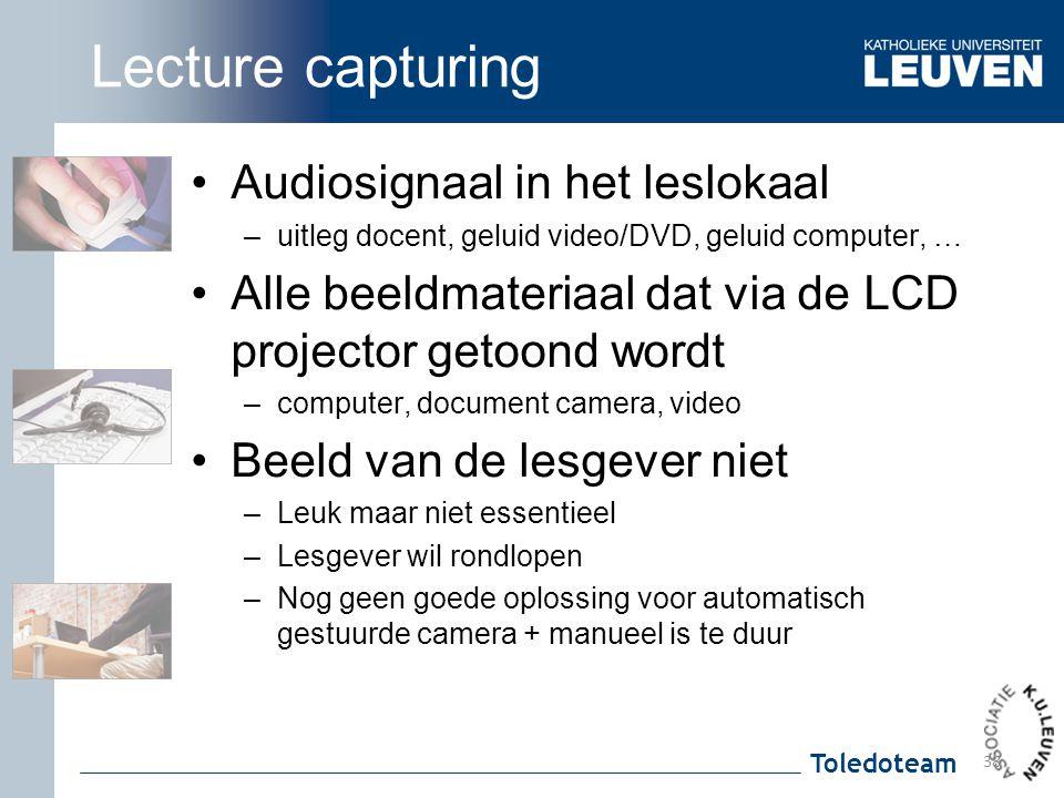 Lecture capturing Audiosignaal in het leslokaal