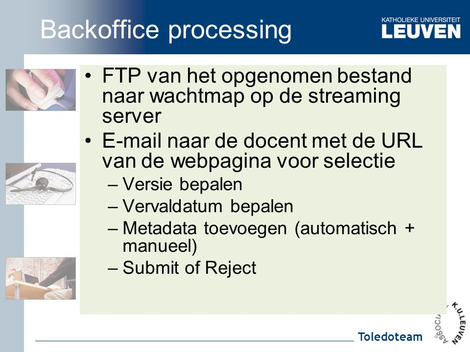 Backoffice processing