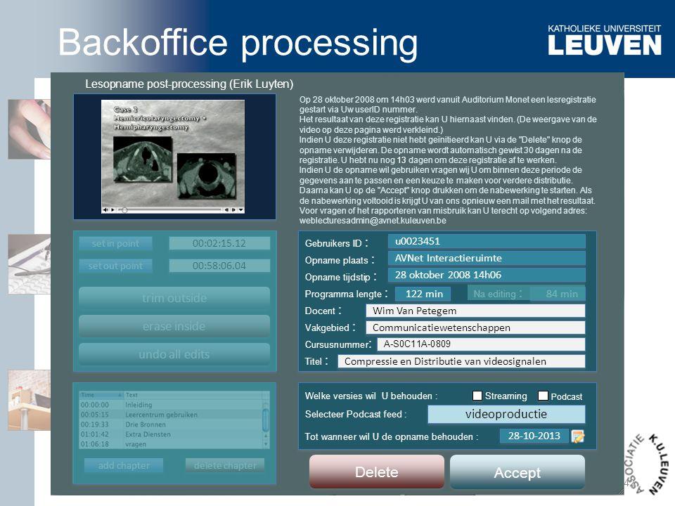 Lesopname post-processing (Erik Luyten)