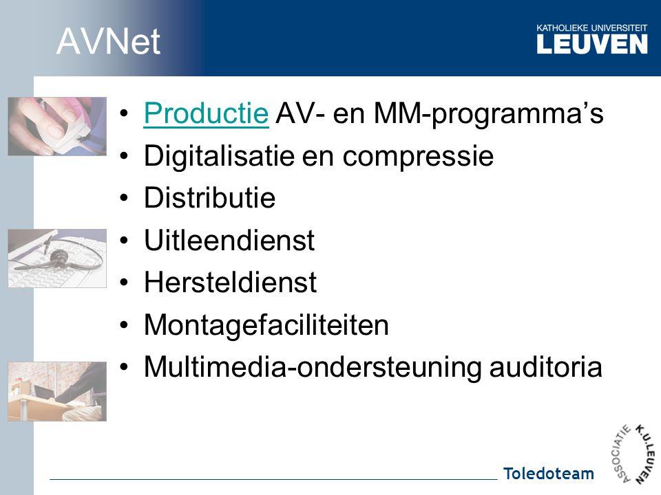 AVNet Productie AV- en MM-programma's Digitalisatie en compressie